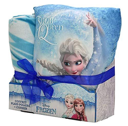Disney - Estuche Frozen Elsa cojín y Manta, 100% poliéster ...