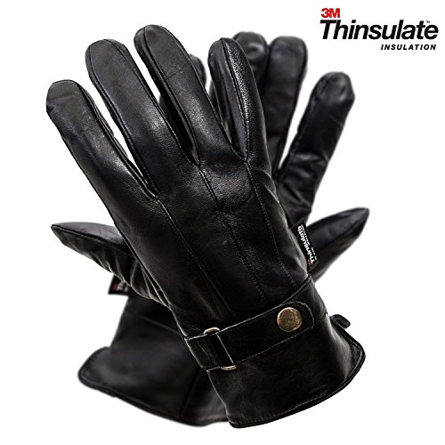 (Pierre Cardin Men's Gloves (Leather with Snap, 4XL))