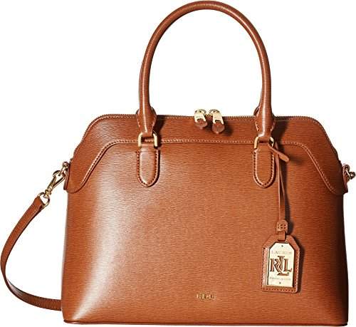 LAUREN Ralph Lauren Women's Newbury Nora Satchel Lauren Tan One Size
