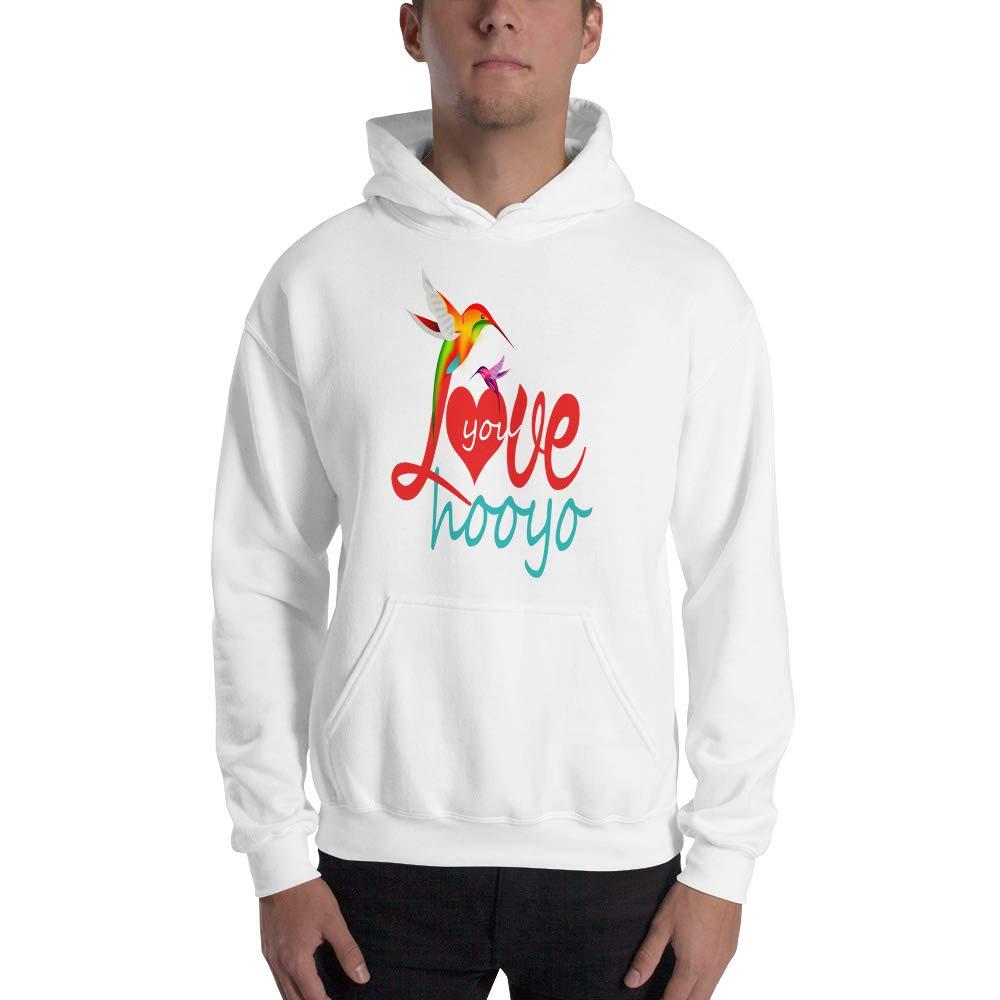 kctwee Unisex Hooded Sweatshirt Love You HOOYO