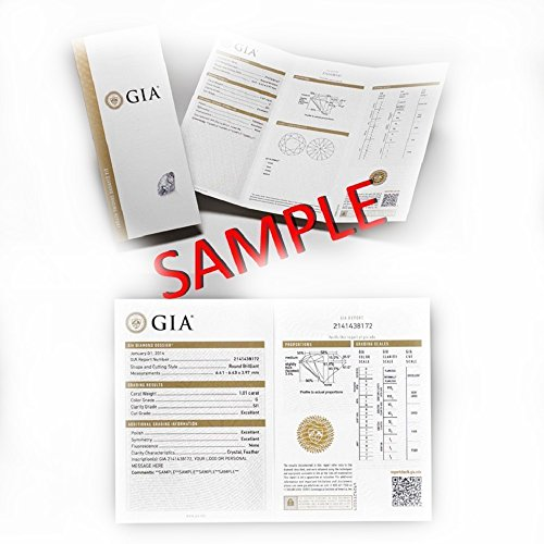 Gia Certifié 0.32Carat Diamant rond-Rrp- £1350