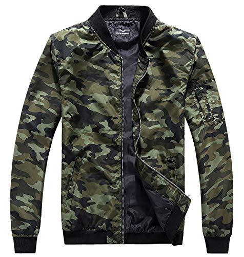 - MADHERO Men's Bomber Jacket Camo Lightweight Outerwear(Camo-7,Small)