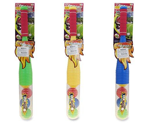 Mozlly Green, Yellow and Blue Baseball Playset Plastic Baseballs by Mozlly