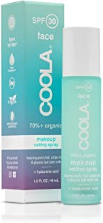 product image for COOLA Makeup Setting Spray, Skin Care & Makeup Protection made with Organic Cucumber & Aloe Vera, Broad Spectrum SPF 30, Alcohol Free, Reef Safe, 1.5 Fl Oz