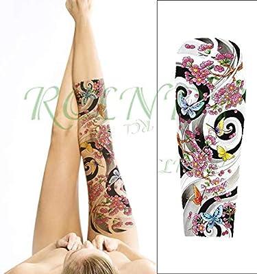 ljmljm 3 Piezas Impermeable Tatuaje Pegatina Leopardo Flor Tribal ...