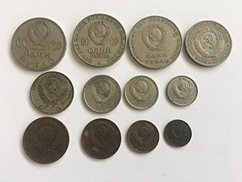 RU 1964 Soviet Union -Set of 13 Kopeks and Rubles Coin USSR CCCP Cold War Era Hammer and Sickle Very Fine ()