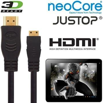 neocore N1, Elite, JUSTOP JTouch Android Tablet PC HDMI Mini HDMI de alta velocidad a HDMI