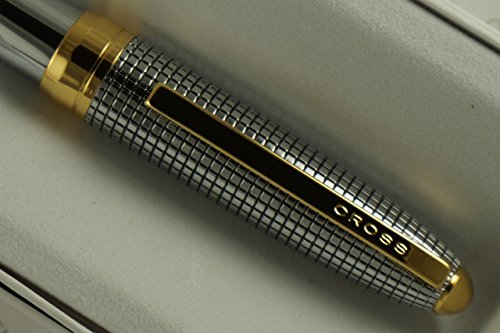 Diamond Cut Barrel - Cross Medalist Diamond Cut Crosshatch and Extremely Polished Barrel with Cross Signature 23KT Gold Mid Ring and Appointment Ballpoint Pen