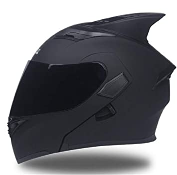 Hombres, Casco de Motocicleta con Visera Interior, Equipo Moto, Doble Lente, Cascos de Carreras Dot: Amazon.es: Deportes y aire libre