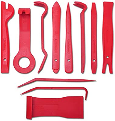 Included 12 pcs Upholstery Tool Trim Removal Tool Auto Panel Removal Tool Car Interior Trim Kit Fastener Rivet Remover Plastic Pry Tool for Automotive Radio Stereo Dash