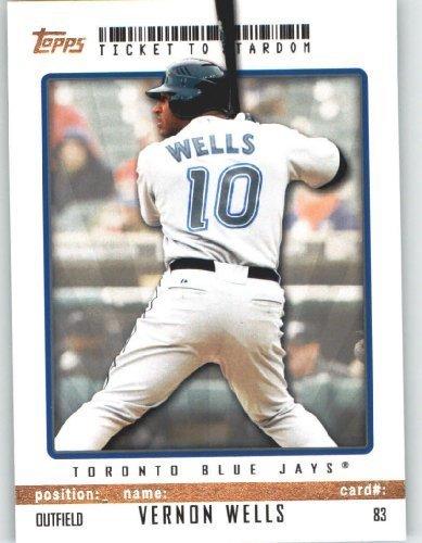 (Vernon Wells - Toronto Blue Jays - Topps Ticket to Stardom Baseball Card # 83 - MLB Trading Card)