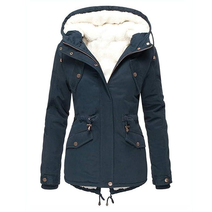AMOUSTORE Womens Hooded Warm Winter Coats Zip Up Lined Outwear Jacket Sweatshirt