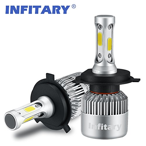 INFITARY-LED-Headlight-Bulbs-H4-Conversion-Kits-HighLow-Beam-Auto-Headlamp-Dual-Beam-Car-Headlight-72W-6500K-Cool-White-8000LM-Extremely-Super-Bright-COB-Chips-3-Years-Warranty