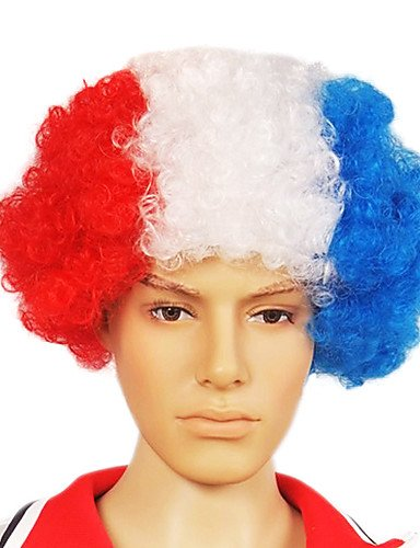 [Wigs have an attractive convenience fashion Capless Football Fans Party Wig(Holland Flag Colors)] (Halloween Costume Ball Nyc)