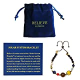 Believe London Solar System Bracelet (Black Chain)
