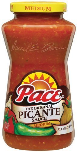 Picante Hot Sauce Salsa - Pace Picante Sauce (MEDIUM) 8 oz (Pack of 2)
