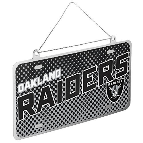 UPC 889345236424, Oakland Raiders NFL Metal License Plate Sign Christmas Tree Ornament