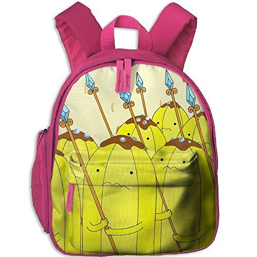 Banana Split Dog Halloween Costumes (Banana Functional Design For Kids School Backpack Children Bookbag Perfect For Transporting For School In 4 Season Pink)