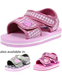 Jump Footwear Girl's Dual Velcro Toddler Sandals
