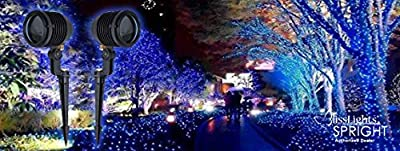 (2) Blisslights Spright BLUE Stars Light Projectors With 220-240v Power Supply!