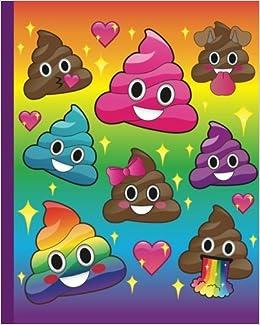 Cute Emoji Rainbow Poop Journal Kawaii Rainbow Emoji Poop