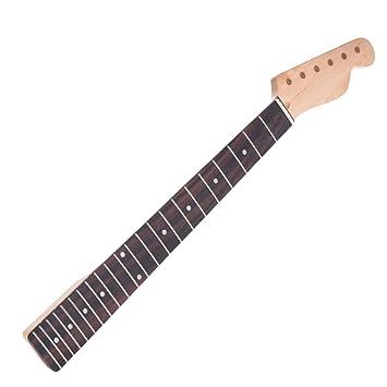 ammoon 22 Trastes Nuevo Reemplazo Cuello de Arce Palo de Rosa Diapasón para Estilo TL Guardabarros Guitarra Eléctrica: Amazon.es: Instrumentos musicales