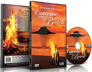 Campfire DVD By the Beach with the Sounds of the Sea and Waves and Amazing Sunsets