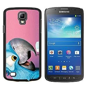 EJOOY---Cubierta de la caja de protección para la piel dura ** Samsung Galaxy S4 Active i9295 ** --Amistoso loro