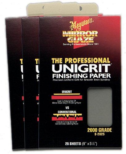 Meguiars S3025 Mirror Glaze Unigrit Finishing Paper 3000 Grit (25 Sheets)