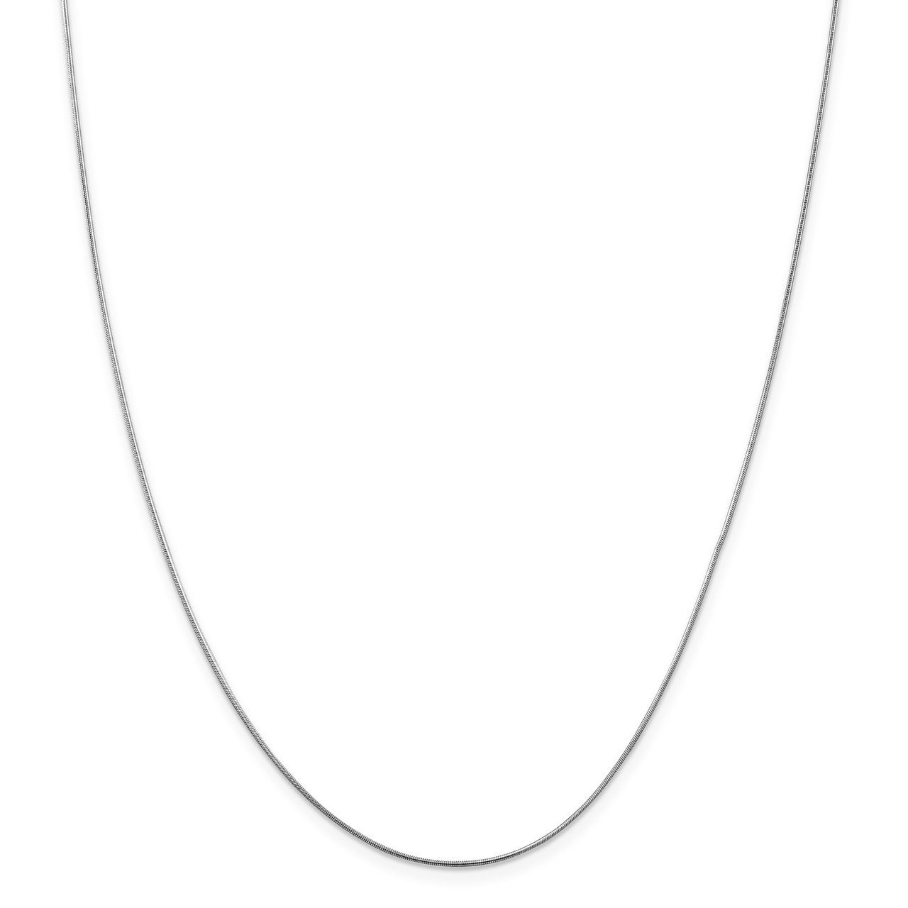 Lex /& Lu Leslies 14k White Gold Snake Chain Necklace LAL92113