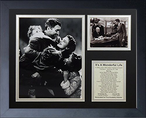 Legends Never Die It's A Wonderful Life Framed Photo Collage, 11 by 14-Inch (Life Village Wonderful)