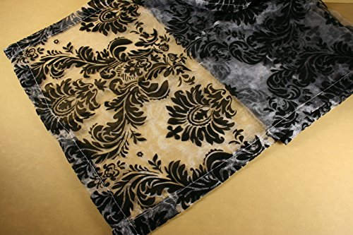 d Baroque Damask Sheer Organza Choose Table Topper or Runner (15