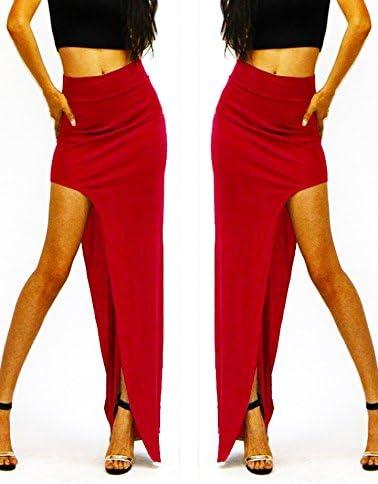 Falda larga para mujer con sexy abertura lateral mod. ALICIA ...