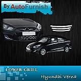 Autofurnish Front Lower Grill For Hyundai Verna Fluidic (Set Of 3)
