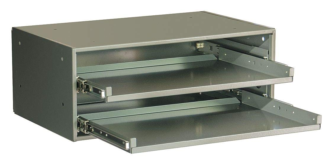 Durham Heavy Duty Bearing Rack, 8-1/8'' Cabinet Height, 20-3/8'' Cabinet Width, Number of Drawers 2 - 309B-95