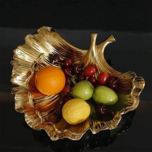 ゴールドセラミックデコレーションフルーツプレート磁器ホルダー工芸ギフト、ホーム装飾品