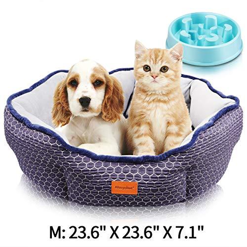 morpilot Haustierbett Katzenbett für Katzen und kleine, mittelgroße Hunde, Komfortables weichem Kissen…