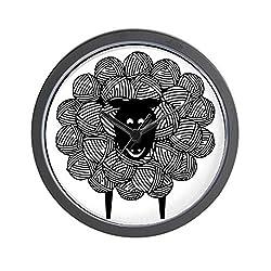 CafePress - Yarny Sheep - Unique Decorative 10 Wall Clock