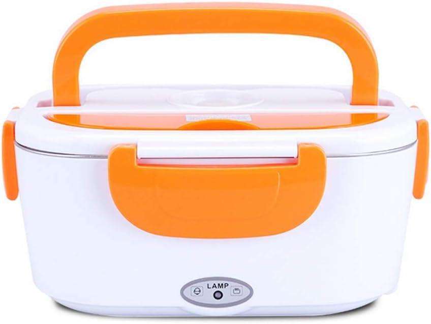 Docakaicn Fiambrera calefaccionada, Material de Grado alimenticio, Caja de Gran Capacidad de 1.5 l, Puede calentarse a Temperatura Constante, portátil y de tamaño liviano: 24 * 17 * 11 cm