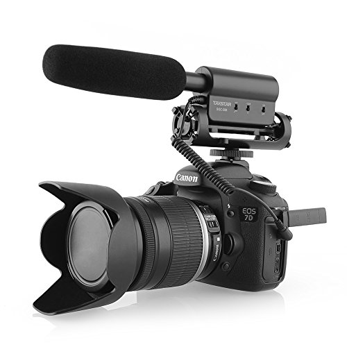 Professional Video Production Equipment - TAKSTAR SGC-598 Interview Microphone for Nikon/Canon Camera/DV Camcorder