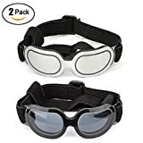 Running Pet 2 Pack Dog Sunglasses Eye Wear UV Protection Goggles Cat Glasses Pet Colorful Sunglasses