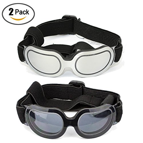 Running Pet 2 Pack Dog Sunglasses Eye Wear UV Protection Goggles Cat Glasses Pet Colorful Sunglasses by Running Pet