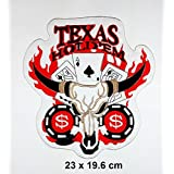 fan products of Big Jumbo texas holdem Skull Ace Card Gambling Winner Playing Card Of Dead Casino Las Vegas patch Logo Vest Jacket Hat Hoodie Backpack Patch Iron On