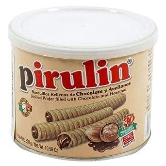 Barquillos Chocolate Pirulin, Caja 6 latas de 300gr. Lata Barquillas Pirulin: Amazon.es: Alimentación y bebidas