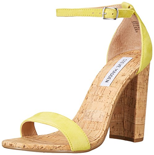 Steve Madden Women's Carson-c Dress Sandal, Yellow Suede, 6 M US