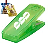 Snack-in Clip - 500 Quantity - $0.69 Each - PROMOTIONAL PRODUCT / BULK / BRANDED with YOUR LOGO / CUSTOMIZED. Size: 1''H x 2-3/4''W x 1-1/8''D