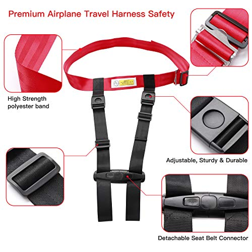 Child Airplane Safety Travel Harness, Clip Strap Safety Airplane Child Restraint System for Baby,Toddlers & Kids - Airplane Travel Accessories for Aviation Travel Use by MASCARRY (Image #2)