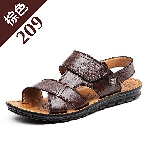 lovely Black Summer Marée Les Pantoufles Chaussures De Plage, Occasionnel, Hommes, Non Glissants.,Eu41Cn42,Brown,