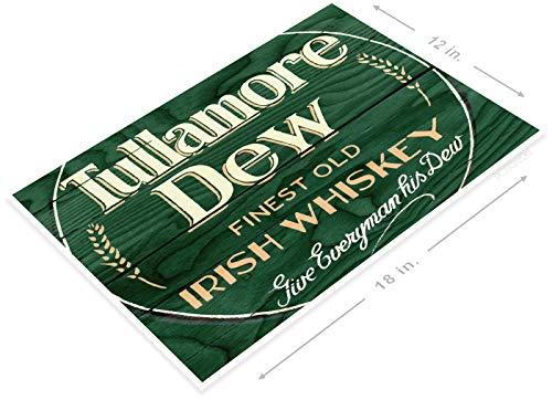 PosterGlobe Poster A658 Tullamore Dew Rustic Irish Whisky Sign Liquor Shop Bar Pub Cave 12