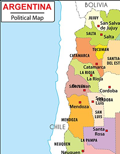 Amazon Com Argentina Political Map 36 W X 46 10 H Office